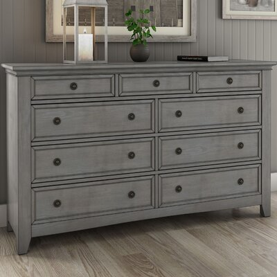 Sefton 9 Drawer Dresser Color: Antique Gray