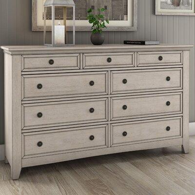 Sefton 9 Drawer Dresser Color: Antique White