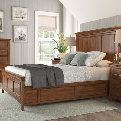 Sefton Queen Wood Platform Bed Color: Oak