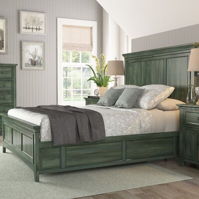 Sefton Queen Wood Platform Bed Color: Dark Sea Green