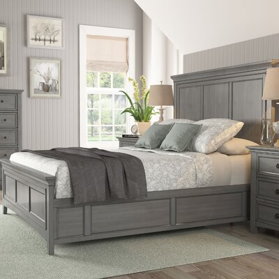 Sefton Queen Wood Platform Bed Color: Antique Gray
