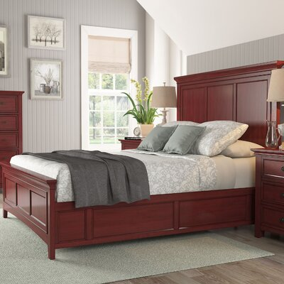 Sefton Queen Wood Platform Bed Color: Berry Red