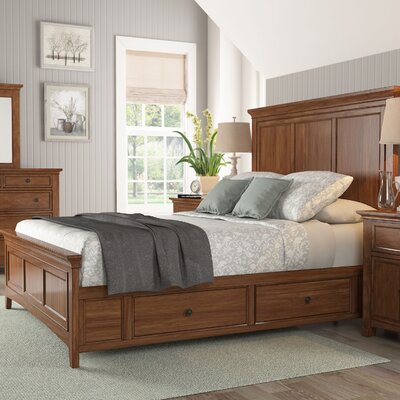 Wooden Sefton Queen Panel Bed Color: Oak