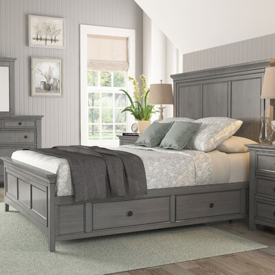 Wooden Sefton Queen Panel Bed Color: Antique Gray