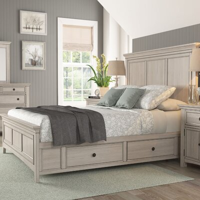 Wooden Sefton Queen Panel Bed Color: Antique White