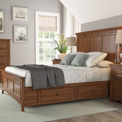 Sefton Queen Storage Platform Bed Finish: Oak