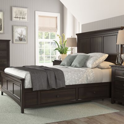 Sefton Queen Storage Platform Bed Color: Black
