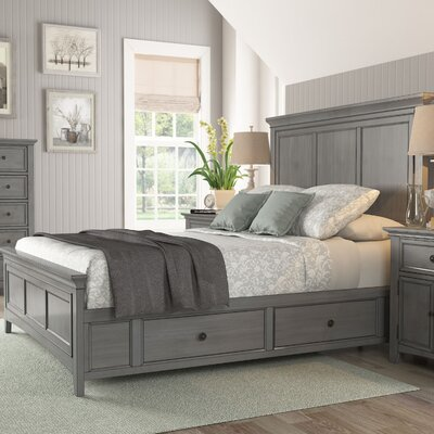 Sefton Queen Storage Platform Bed Color: Antique Gray