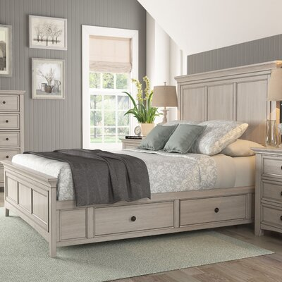 Sefton Queen Storage Platform Bed Color: Antique White
