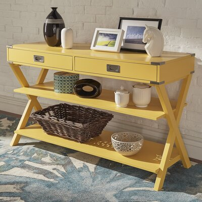 Heracles Console Table Finish: Yellow