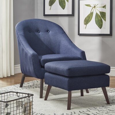 Mu Armchair and Ottoman Upholstery: Twilight Blue