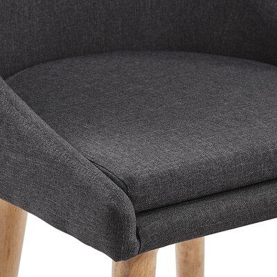 Evianna Walnut Finish Swivel Counter Height Chair (Set of 2) Size: Dark Grey Linen 29H