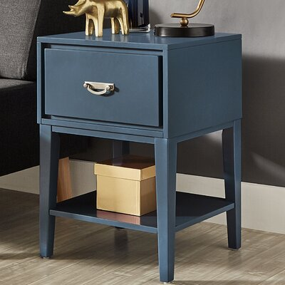 Richboro 1 Drawer Nightstand Color: Bluesteel
