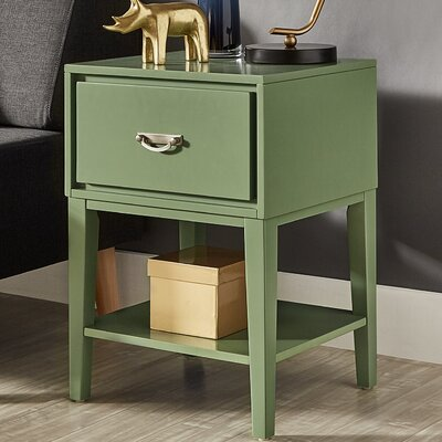 Richboro 1 Drawer Nightstand Finish: Meadow Green