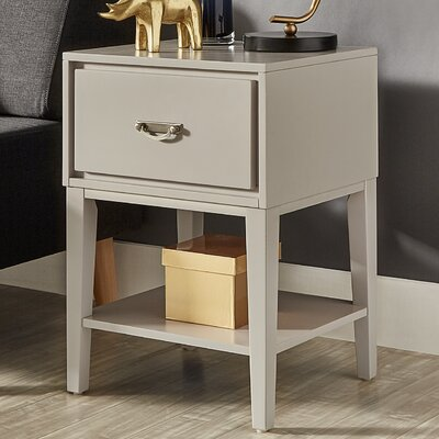 Richboro 1 Drawer Nightstand Color: Silver Birch