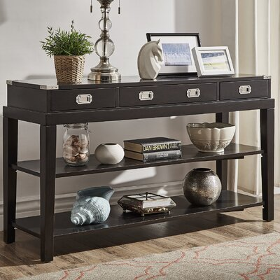 Calmers Console Table Finish: Black