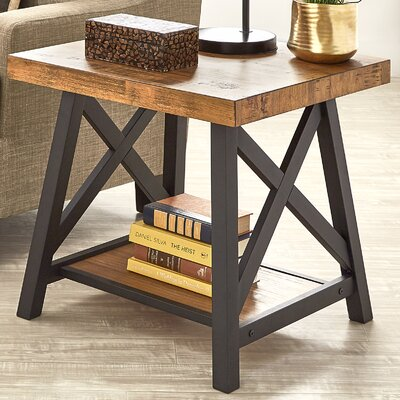 Silvis End Table Color: Oak