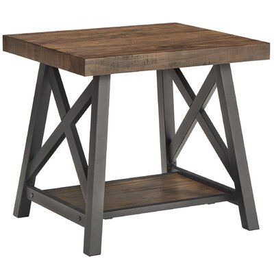 Silvis End Table Finish: Brown