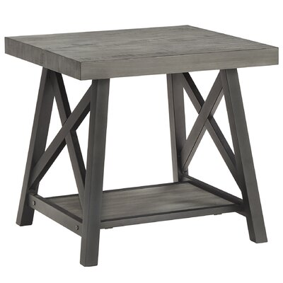 Silvis End Table Finish: Gray