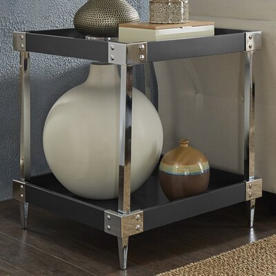 Blais End Table Color: Black, Hardware Color: Chrome