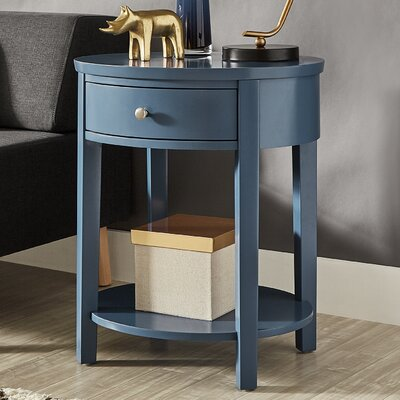 Canterbury End Table with Storage Color: Bluesteel
