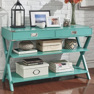 Heracles Console Table Finish: Marine Green