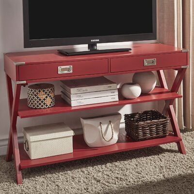 Heracles Console Table Finish: Samba Red