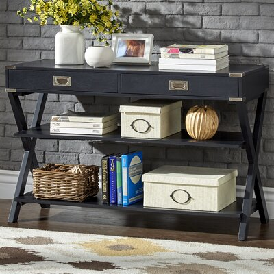 Heracles Console Table Finish: Charcoal Black