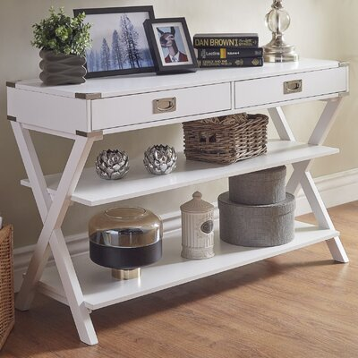 Heracles Console Table Finish: White