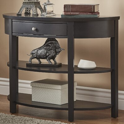 Kiantone Console Table Finish: Charcoal Black