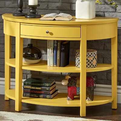 Kiantone Console Table Finish: Yellow
