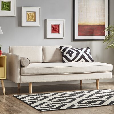 Gamma Chaise Lounge Upholstery: Beige