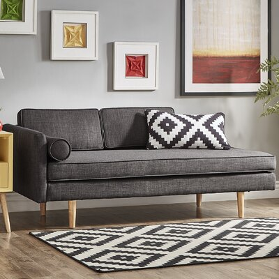 Gamma Chaise Lounge Upholstery: Dark Gray