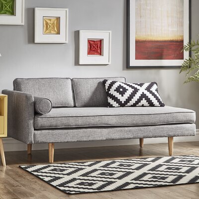 Gamma Chaise Lounge Upholstery: Gray