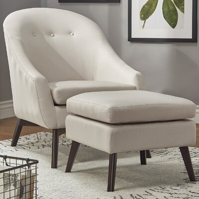 Mu Armchair and Ottoman Upholstery: Beige