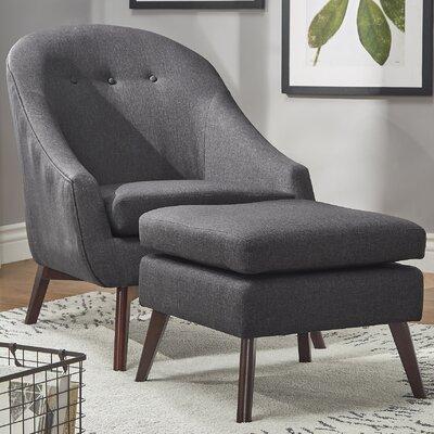 Mu Armchair and Ottoman Upholstery: Dark Gray
