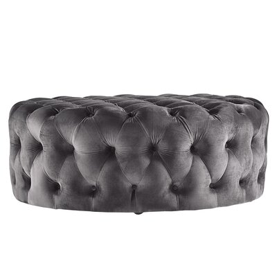 Sagebrush Cocktail Ottoman Upholstery : Dark Gray