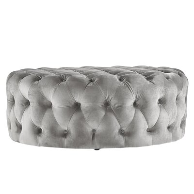 Sagebrush Cocktail Ottoman Upholstery : Gray