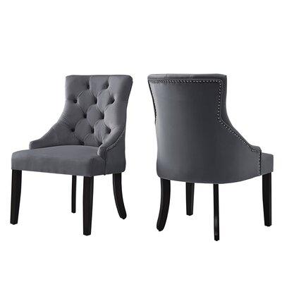 Agnes Side Chair Upholstery : Drak Gray