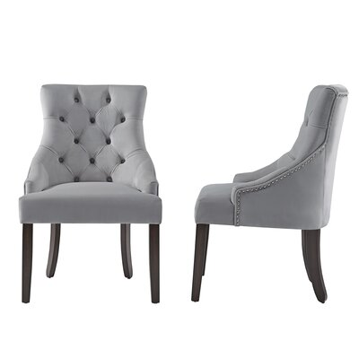 Agnes Side Chair Upholstery : Gray