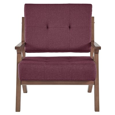 Derouen Armchair Upholstery: Tawny Port