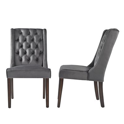 Justine Side Chair Upholstery: Dark Gray