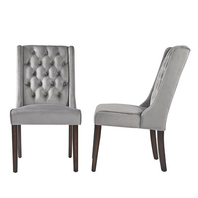 Justine Side Chair Upholstery: Gray