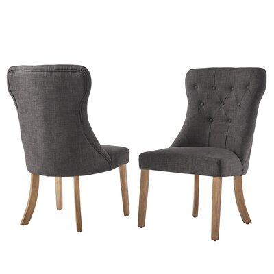 Tamarack Linen Tufted Upholstery Dining Chair Upholstery: Dark Gray