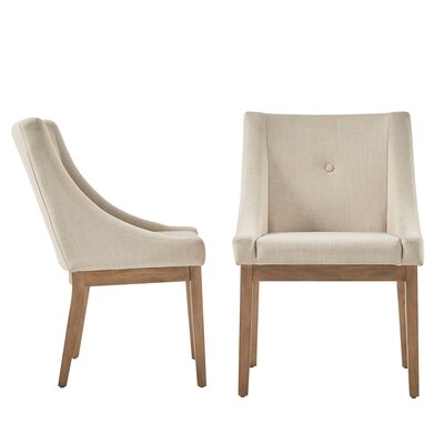 Tamarack Linen Upholstery Dining Chair Upholstery Color: Beige