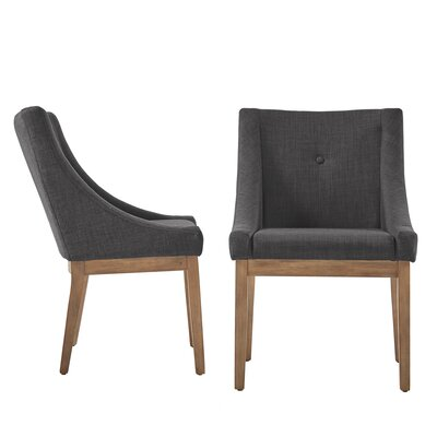 Tamarack Linen Upholstery Dining Chair Upholstery Color: Dark Gray