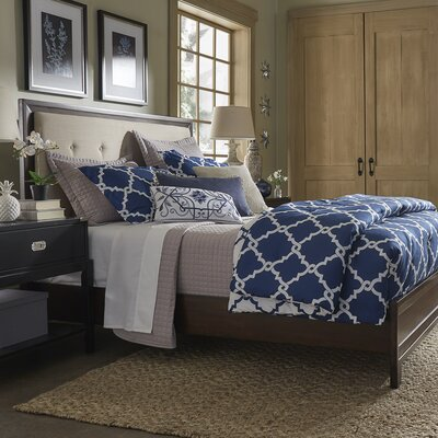 Linen Tufted Upholstered Panel Bed Color: Beige, Size: Full/Double