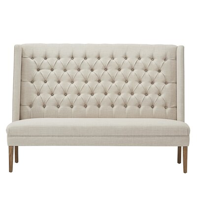 Solid Linen Tufted Upholstered Bedroom Bench Upholstery: Beige