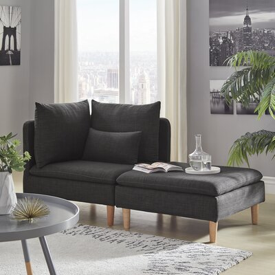 Colinda Reversible Modular Sectional Upholstery: Dark Gray