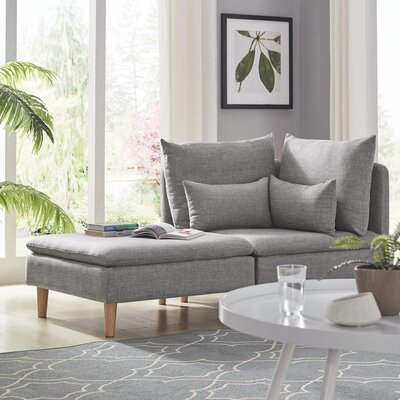 Colinda Reversible Modular Sectional Upholstery: Gray